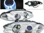 Передние фонари для Mitsubishi Eclipse 97-99 Halo Projector Хром
