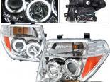 Передние фары для  Nissan Frontier 05-08 Projector CCFL Хром
