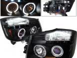 Передние фары для  Nissan Titan 04-07 Halo Projector Чёрный