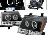 Передние фары на Nissan Xterra 05-07 Halo Projector Чёрный
