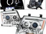 Передняя оптика для Nissan Xterra 05-07 Halo Projector Хром