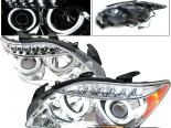 Передние фары для Scion TC 05-07 Dual Halo Projector CCFL Chrome
