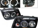 Передние фары для Volkswagen Jetta 99-04 Halo Projector Чёрный