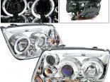 Передние фары для Volkswagen Jetta 99-04 Halo Projector Хром
