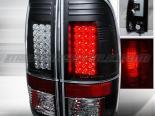 Задняя оптика на Ford F250 08-10 Чёрный V2 : Spec-D