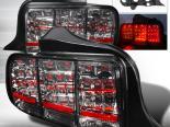 Задние фары для Ford Mustang 05-09 Тёмный хром V2 : Spec-D