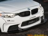 Liberty Walk передний  бампер CFRP диффузор Set BMW 4-Series 14-15