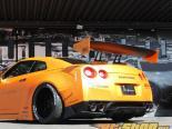 Liberty Walk задний диффузор Nissan GTR 09-15