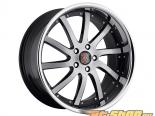 MRR Design Чёрный Brushed Face with Хром Lip RW4 Диски 20x8.5
