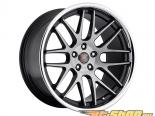 MRR Design Чёрный Brushed Face with Хром Lip RW6 Диски 19x9.5