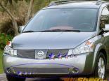 Решётка на передний бампер  Nissan Quest 04-06