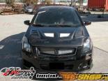 Карбоновый капот на Nissan Sentra 2007-up R1 Стиль