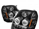 Передние фары на GMC Yukon 07-10 Halo Projector Black : Spyder