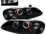 Передняя оптика для Chrysler Sebring 01-03 Halo Projector Black: Spyder