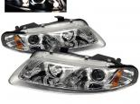 Передняя оптика для Chrysler Sebring 97-00 Halo Projector Chrome: Spyder