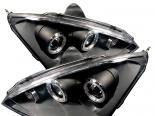 Передняя оптика для FORD FOCUS 00-04 Halo Projector Чёрный : Spyder