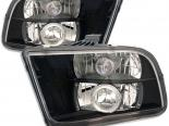 Передняя оптика для Ford Mustang 05-09 Halo Projector Чёрный : Spyder