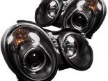 Передние фонари на Mercedes Benz 98-02 Halo Projector Чёрный: Spyder