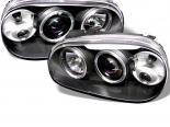 Передние фонари для Volkswagen Golf 99-05 Halo Projector Чёрный : Spyder