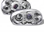 Передние фонари на Volkswagen Golf 99-05 Halo Projector Хром : Spyder