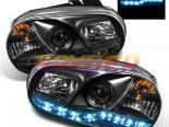 Передние фонари для Volkswagen Golf 99-05 Projector Чёрный :Spec-D