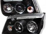 Передняя оптика для Volkswagen Jetta 99-04 Halo Projector Чёрный : Spyder