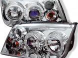 Передние фонари для Volkswagen Jetta 99-04 Halo Projector Хром : Spyder