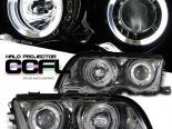 Передние фонари для BMW E46 99-01 3 SERIES PROJECTOR CCFL TITANIUM