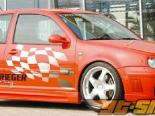 Rieger Карбон Look RS4 Левый Side Skirt w/ Air Intake Volkswagen Golf IV 99-05