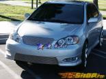 Решётка на передний бампер S|XRS на Toyota Corolla 2005-2009