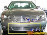 Решётка в передний бампер на Hyundai Sonata 06-07 Billet