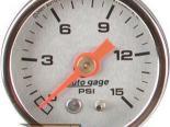 Autometer AutoGage 1 1/2 давления топлива 0-15 Датчик
