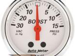Autometer Arctic Белый 2 1/16 Boost/ Vacuum Датчик