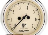 Autometer Antique Beige 2 1/16 Electric тахометр 7000 RPM