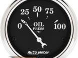 Autometer Old Tyme Чёрный 2 1/16 давление масла Датчик