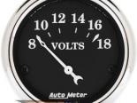 Autometer Old Tyme Чёрный 2 1/16 вольтметр Датчик