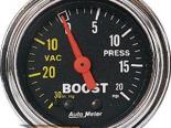 Autometer Traditional Хром 2 1/16 Boost 20 PSI/Vacuum Датчик