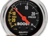 Autometer Traditional Хром 2 1/16 Boost 30 PSI/Vacuum Датчик