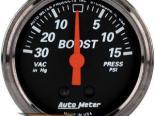 Autometer Designer Чёрный 2 1/16 Boost/Vacuum Датчик