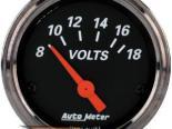 Autometer Designer Чёрный 2 1/16 вольтметр Датчик