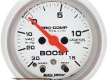 Autometer Ultra Lite 2 1/16 Boost 15 PSI/Vacuum Датчик