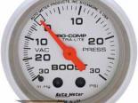 Autometer Ultra Lite 2 1/16 Boost 30PSI/Vacuum Датчик