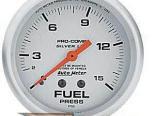 Autometer серебристый 2 5/8 давления топлива 0-15 Датчик