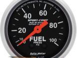 Autometer Sport-Comp 2 1/16 давления топлива 0-100 Датчик