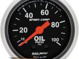 Autometer Sport-Comp 2 1/16 давление масла 0-100 Датчик