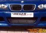 Передний бампер с сеткой Rieger M3 для BMW E46 седан 2002-2005
