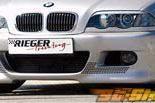 Передний бампер с сеткой Rieger M3 на BMW E46 седан Diesel 99-01