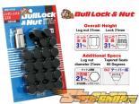 Bull Lock Lug Nut and Диски Lock Set - Чёрный