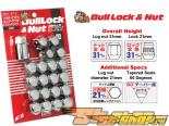 Bull Lock Lug Nut and Диски Lock Set - Хром