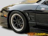 Передние крылья ChargeSpeed D-1 Widebody 20mm на Nissan 240SX S13 JDM Coupe & Хэтчбек 89-94